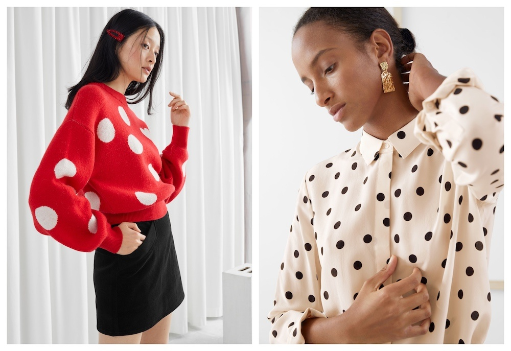 polka dots and other stories jumper blouse