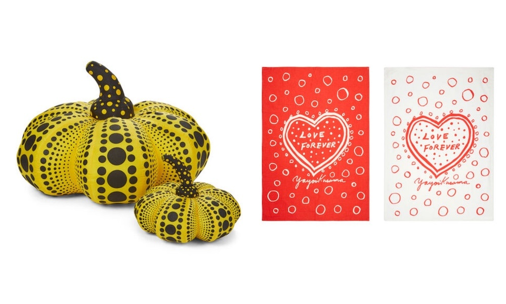 polka dots pumpkin sculpture tea towels