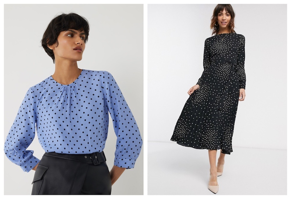 polka dots warehouse blouse dress