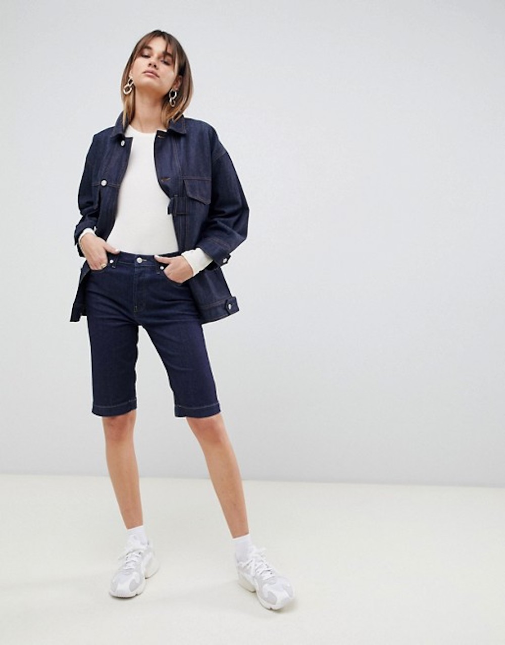 spring trends double denim