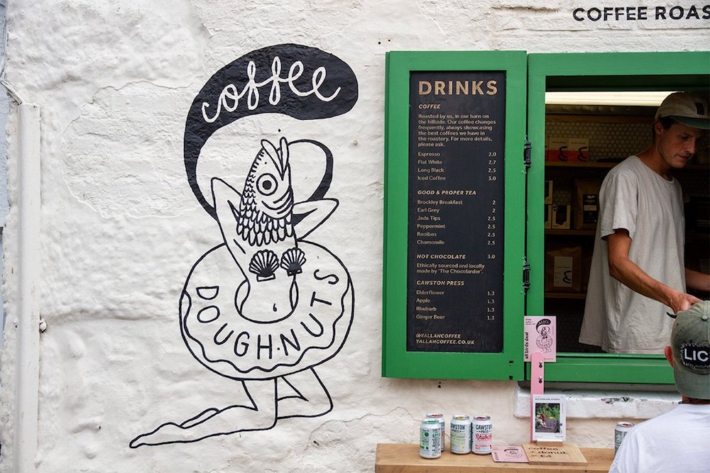 BEst cafe in Cornwall Yallah Kiosk in St Ives