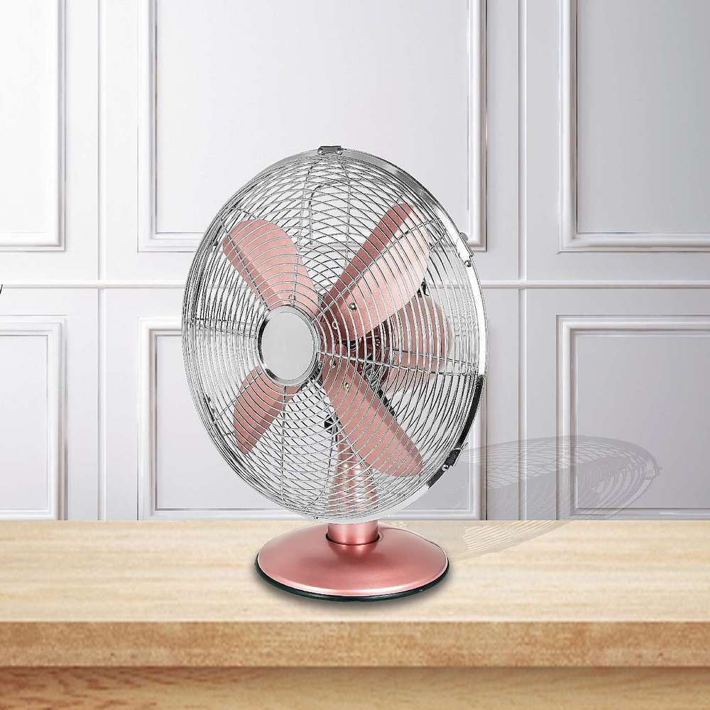 Dunelm rose gold fan