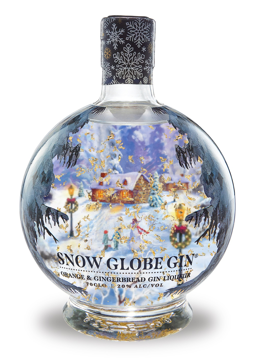 Snow Globe Gin bottle