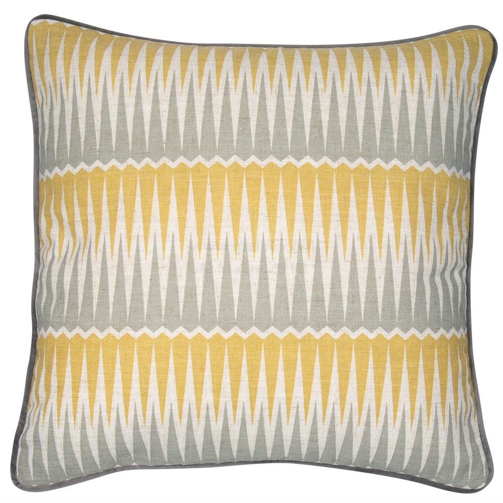 Mustard, Yellow and Grey Cushion, £38 by Blue Isle