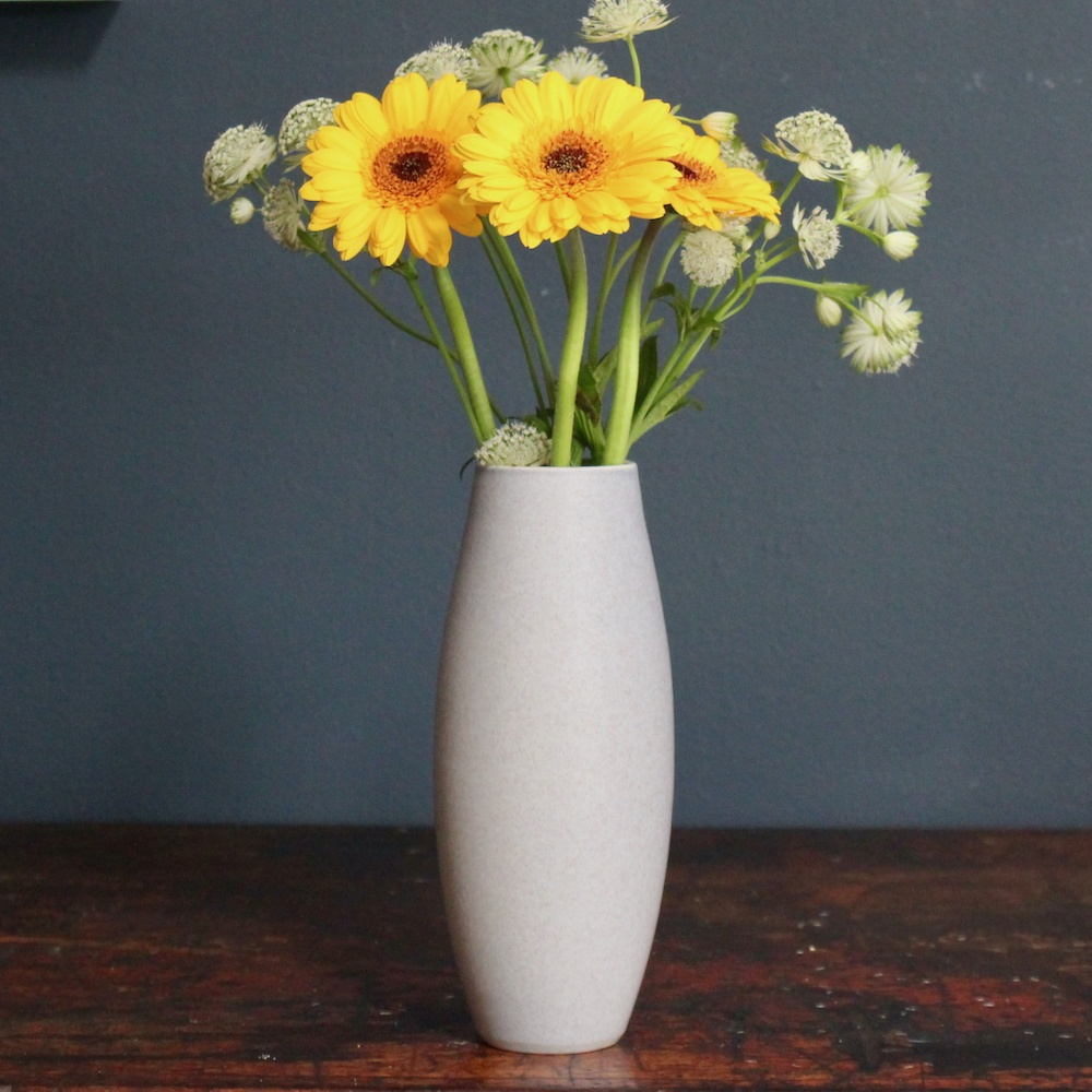 Lucy Burley French Grey 'Ellipse' Vase