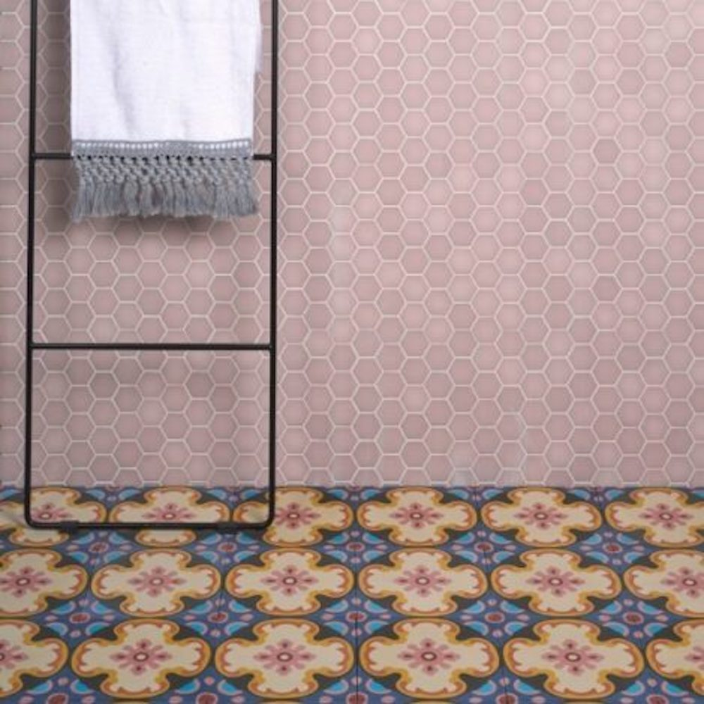 Ca Pietra yellow pink and blue encaustic tiles