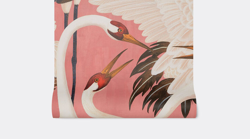 Gucci Herons print wallpaper