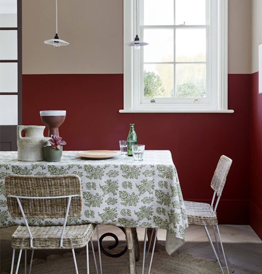 LITTLE GREENE PAINT COMPANY National Trust collection DEEP RED WALLS