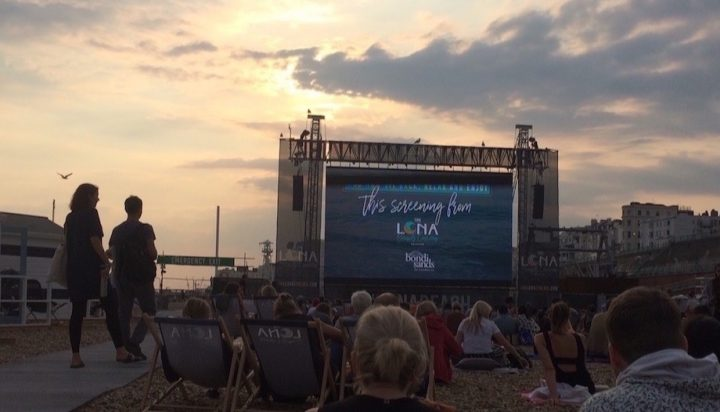 Outdoor cinema in Sussex