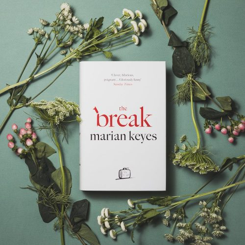 the break book surrounded by flowers
